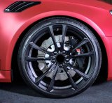 アウディA1/VWビートル/ゴルフ4/ポロ18X8J 5X100 ET35 ABT Styleブラックホイール4本送料無料